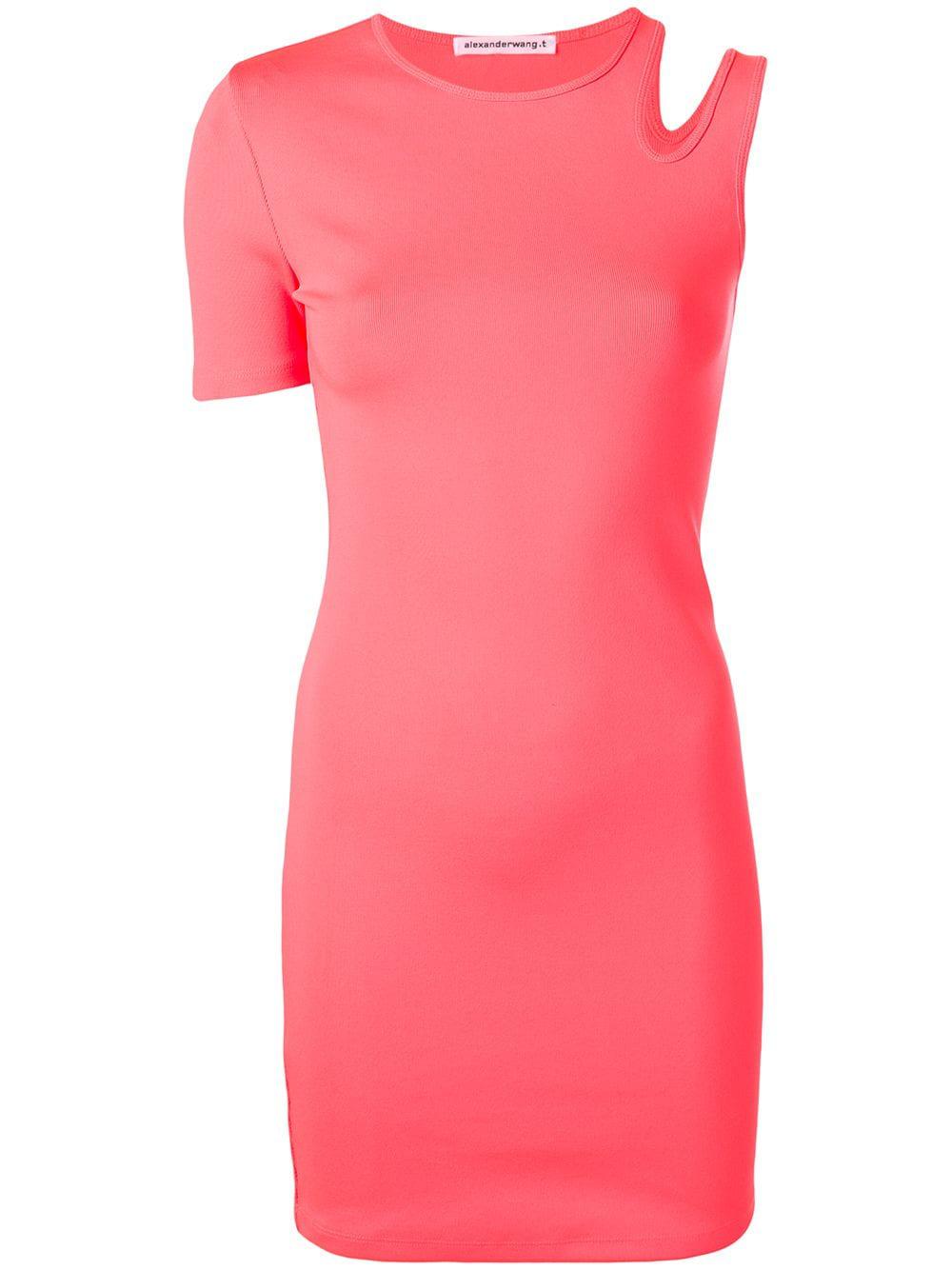 bfa7654e59 T By Alexander Wang Asymmetrical T-Shirt Dress - Pink | ModeSens