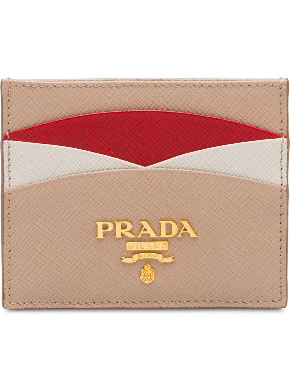 7f271a48d829 Prada Saffiano Leather Credit Card Holder - Pink   ModeSens
