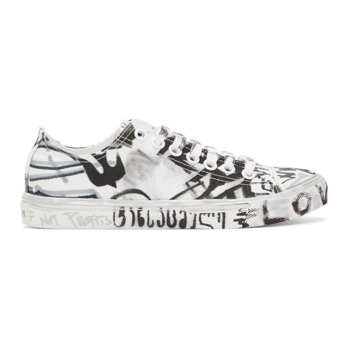 396469eab647 Vetements White Georgian Graffiti Sneakers In Whtgeorgprn
