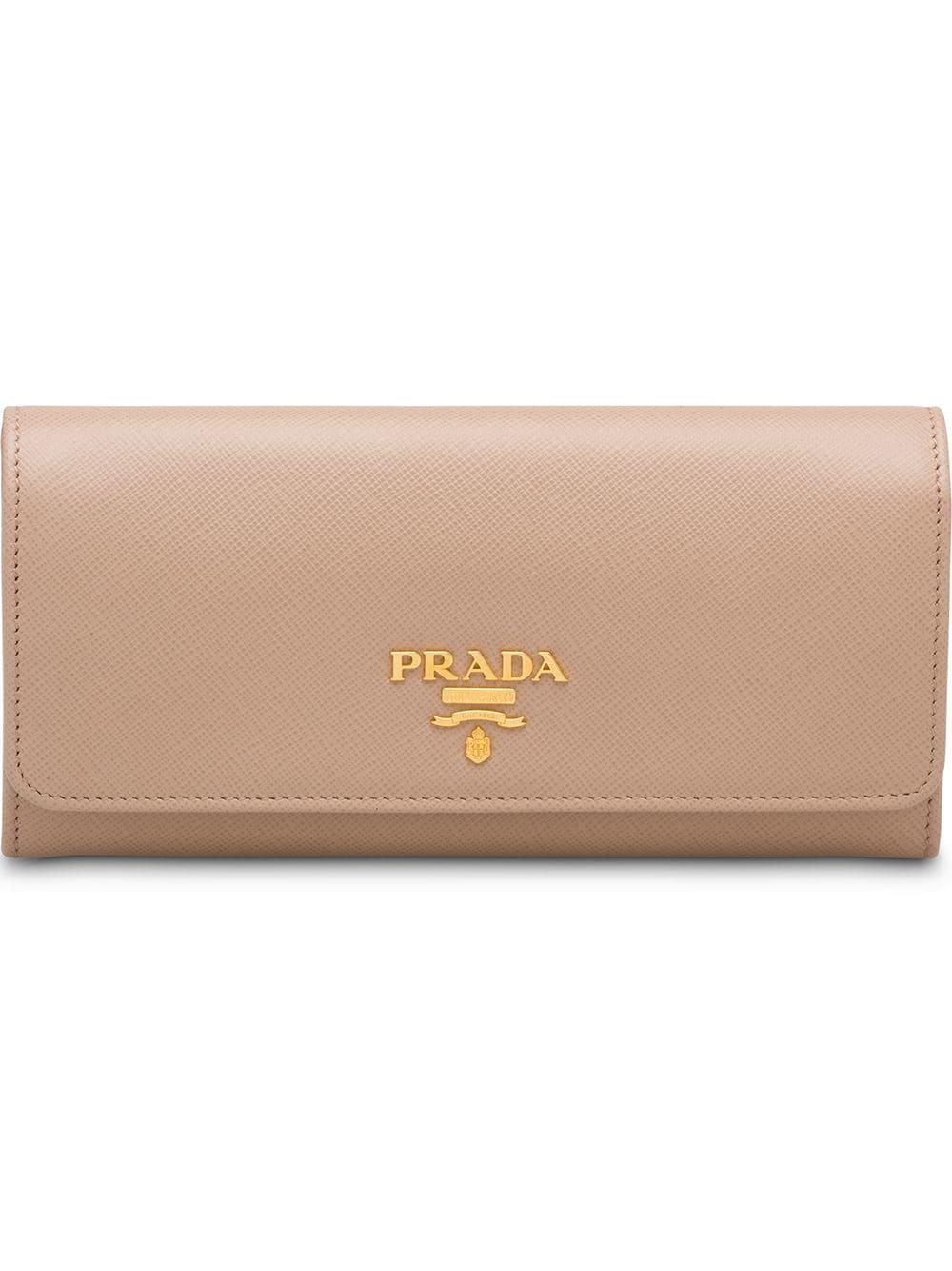 8b9ac012dc158c Prada Leather Wallet - Pink   ModeSens