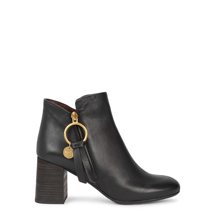 011e28524c Louise 50 Black Leather Ankle Boots