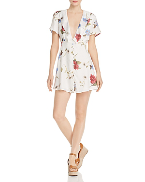c350d5596f3 Show Me Your Mumu Bernadette Babydoll Dress In Florence Floral Silky Dots