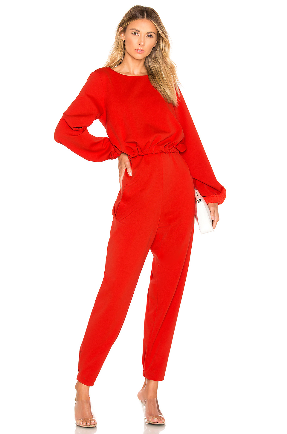 8650f4c84728 Tibi Mercer Tie Front Jumpsuit In Red