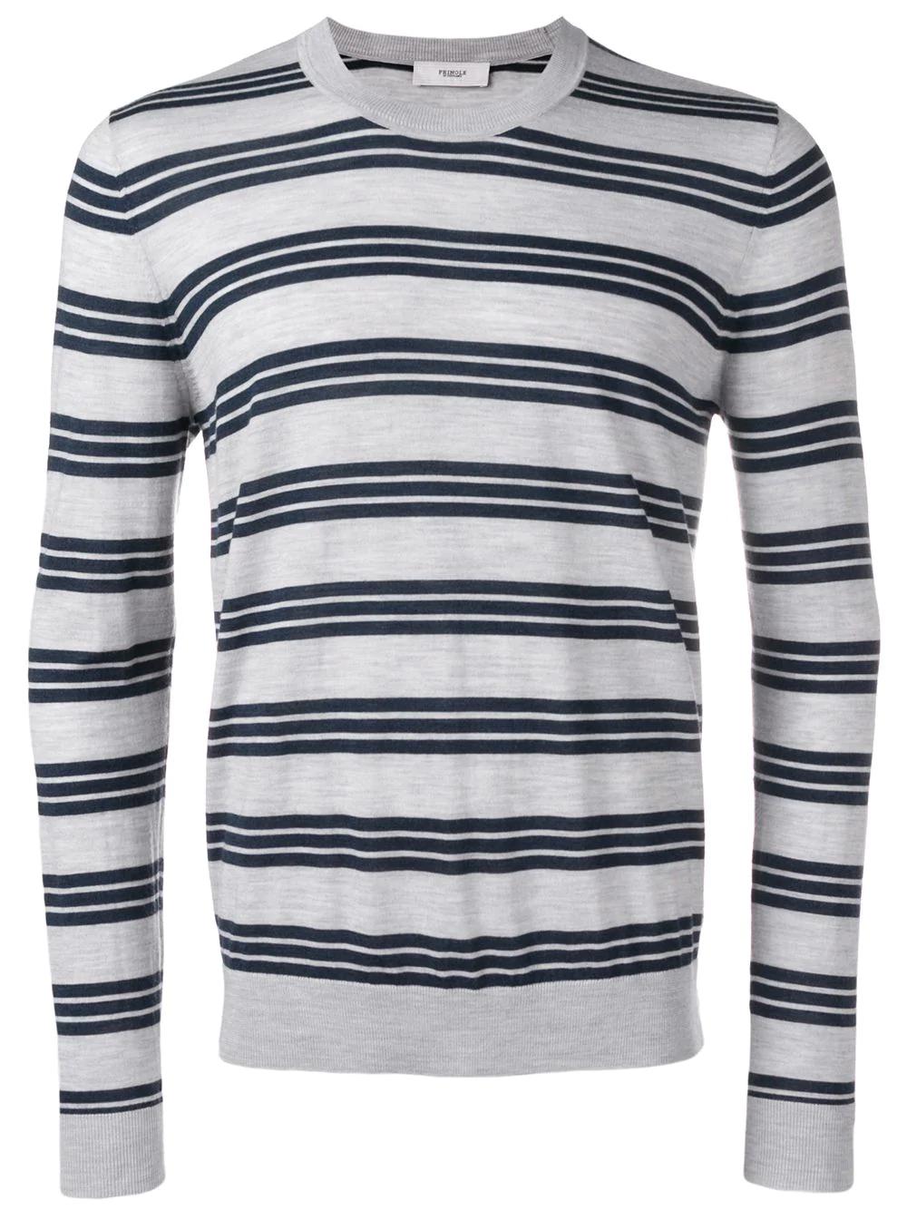 56cb3aef Pringle Of Scotland Striped Merino Wool Jumper - Grey | ModeSens