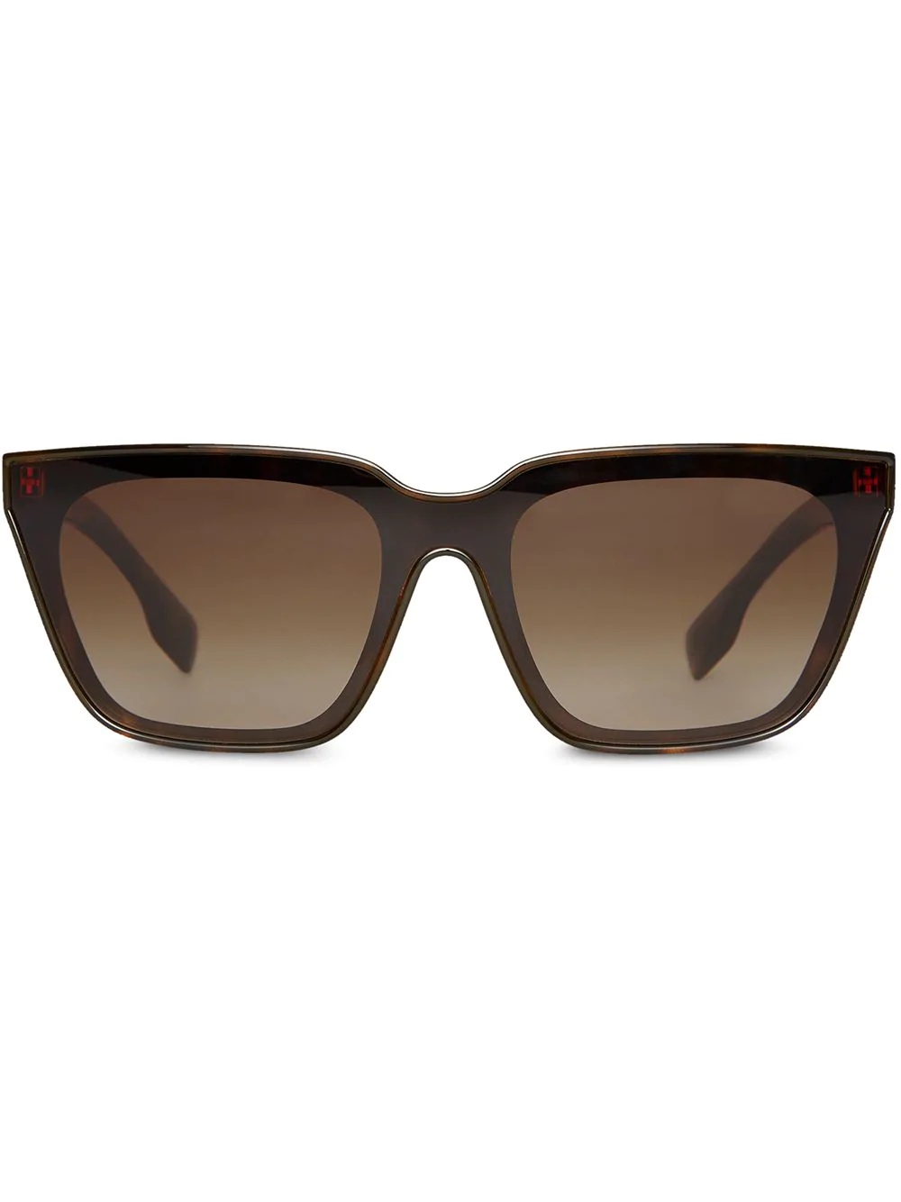 a8be93766ad Burberry Eyewear Square Frame Shield Sunglasses - Brown