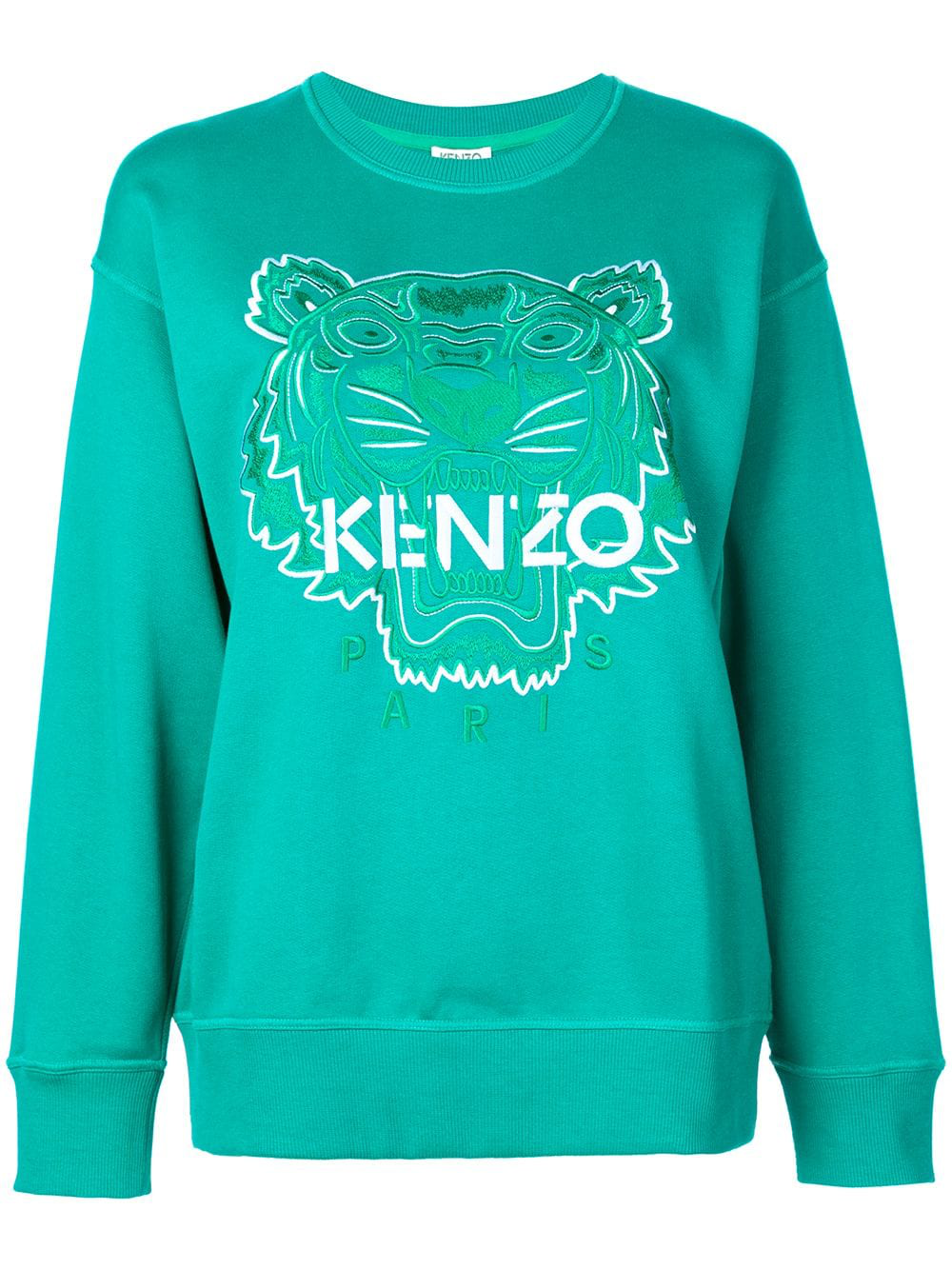 f3c501b7b Kenzo Tiger Embroidered Sweatshirt - Green   ModeSens