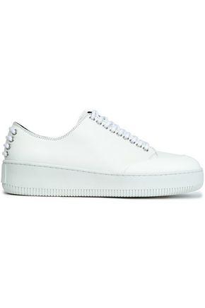 best sneakers 9fc74 3c45c Mcq Alexander Mcqueen Woman Netil Leather Platform Sneakers White