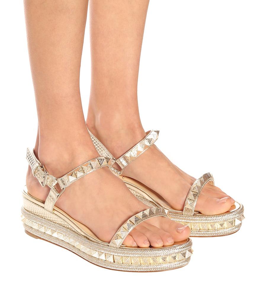 c11094b7352 Cataclou Studded Platform Espadrille Sandals - Nude, Light Gold