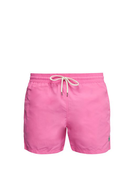 2d482a8f6 Polo Ralph Lauren - Embroidered Logo Swim Shorts - Mens - Pink ...