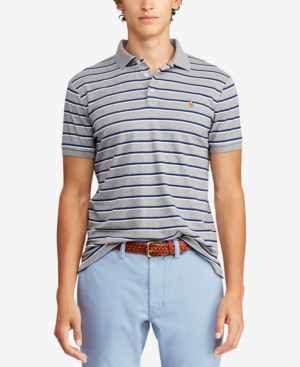 d9ecb519 Polo Ralph Lauren Men's Classic-Fit Striped Soft-Touch Polo In Steel  Heather Multi