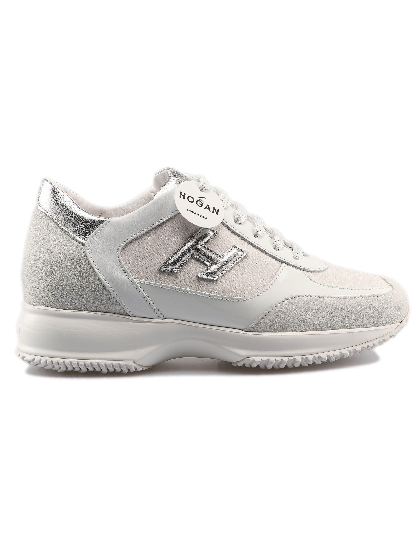 Hogan Interactive H 3d Sneakers In Bianco Argento | ModeSens