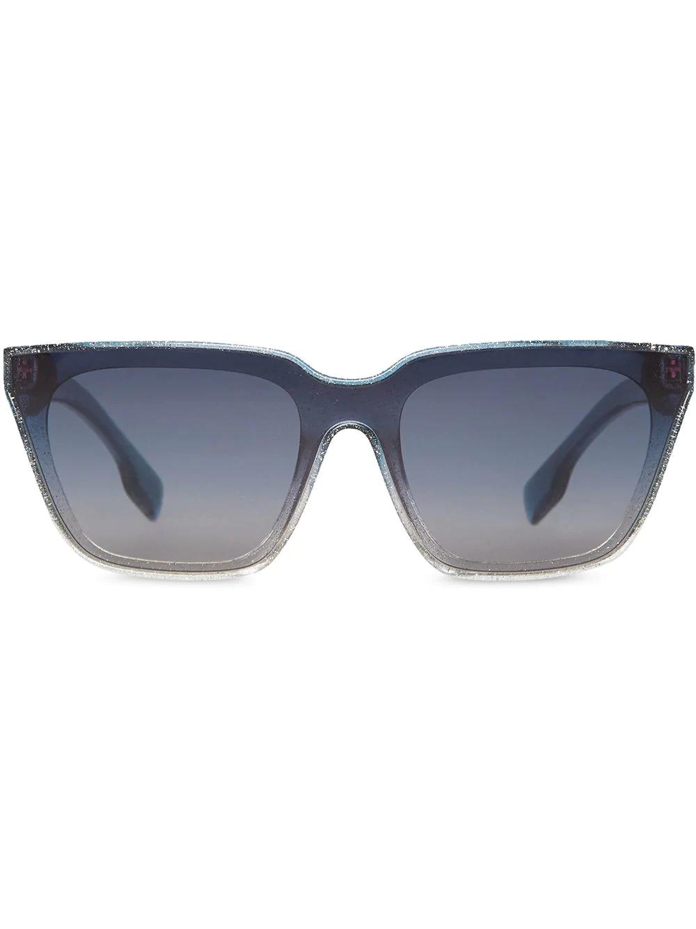 37159ac6ff Burberry Eyewear Glitter Detail Square Frame Shield Sunglasses - Blue