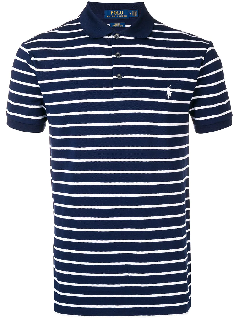 c33e4aad7b57e8 Polo Ralph Lauren Striped Polo T-Shirt - French Navy In French Navy ...