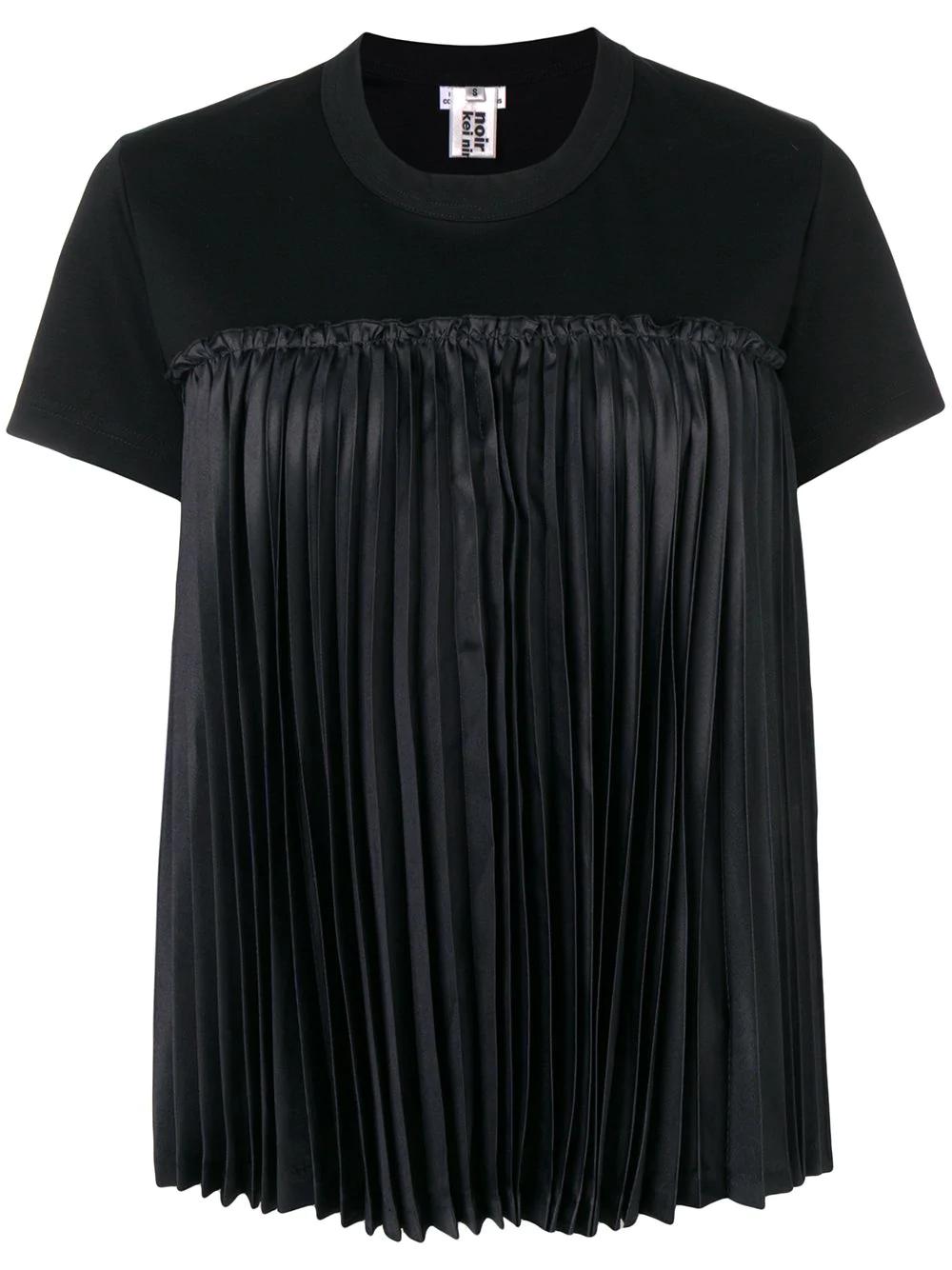 df5933c9abce0 Comme Des GarÇOns Noir Kei Ninomiya Pleated Detail T-Shirt - Black ...