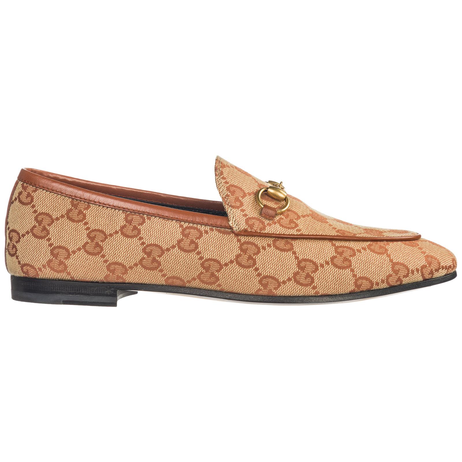 811c698b9a48 Gucci 10Mm Jordan Gg Supreme Canvas Loafers In 8378 Gg Beige