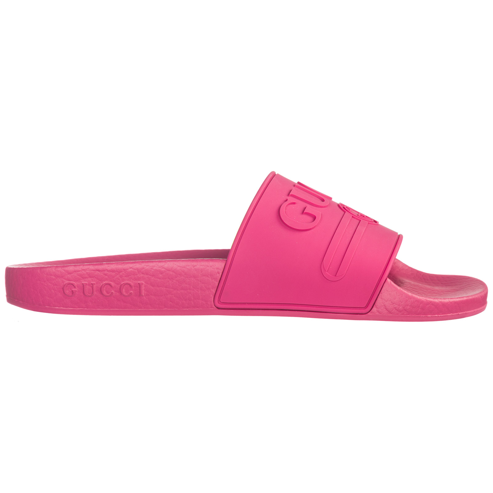 f69fa5b49bae Gucci Women s Rubber Slippers Sandals Logo In Pink