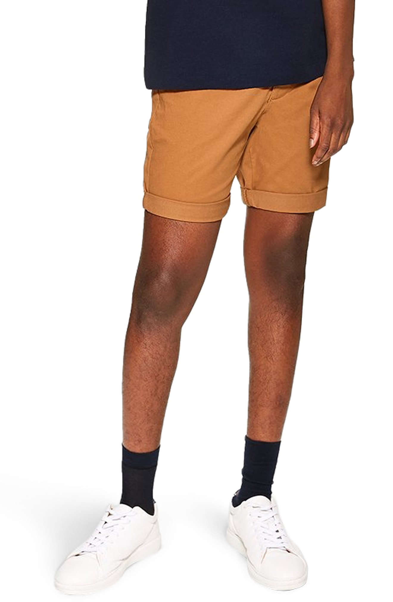 76f9dc8fbca58 Topman Skinny Fit Chino Shorts In Navy Blue
