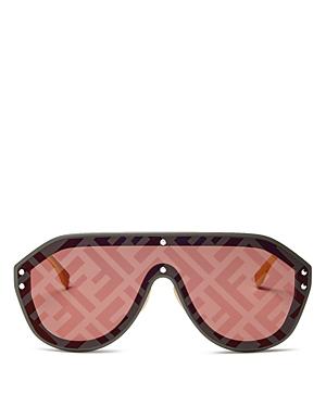 7f8ee147ee6e9 Fendi Women s Logo-Print Shield Sunglasses