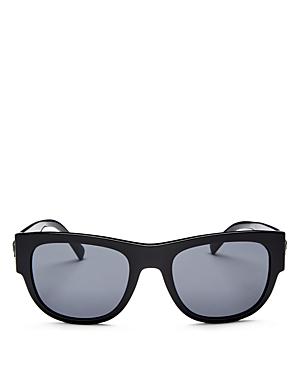 d43b4e931a70 Versace Medusa Head   Greek Key Square Sunglasses In Black Frames Grey  Lenses