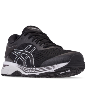 2d2f291a9 Asics Men s Gel-Kayano 25 Running Sneakers From Finish Line In Black Glacier  Grey