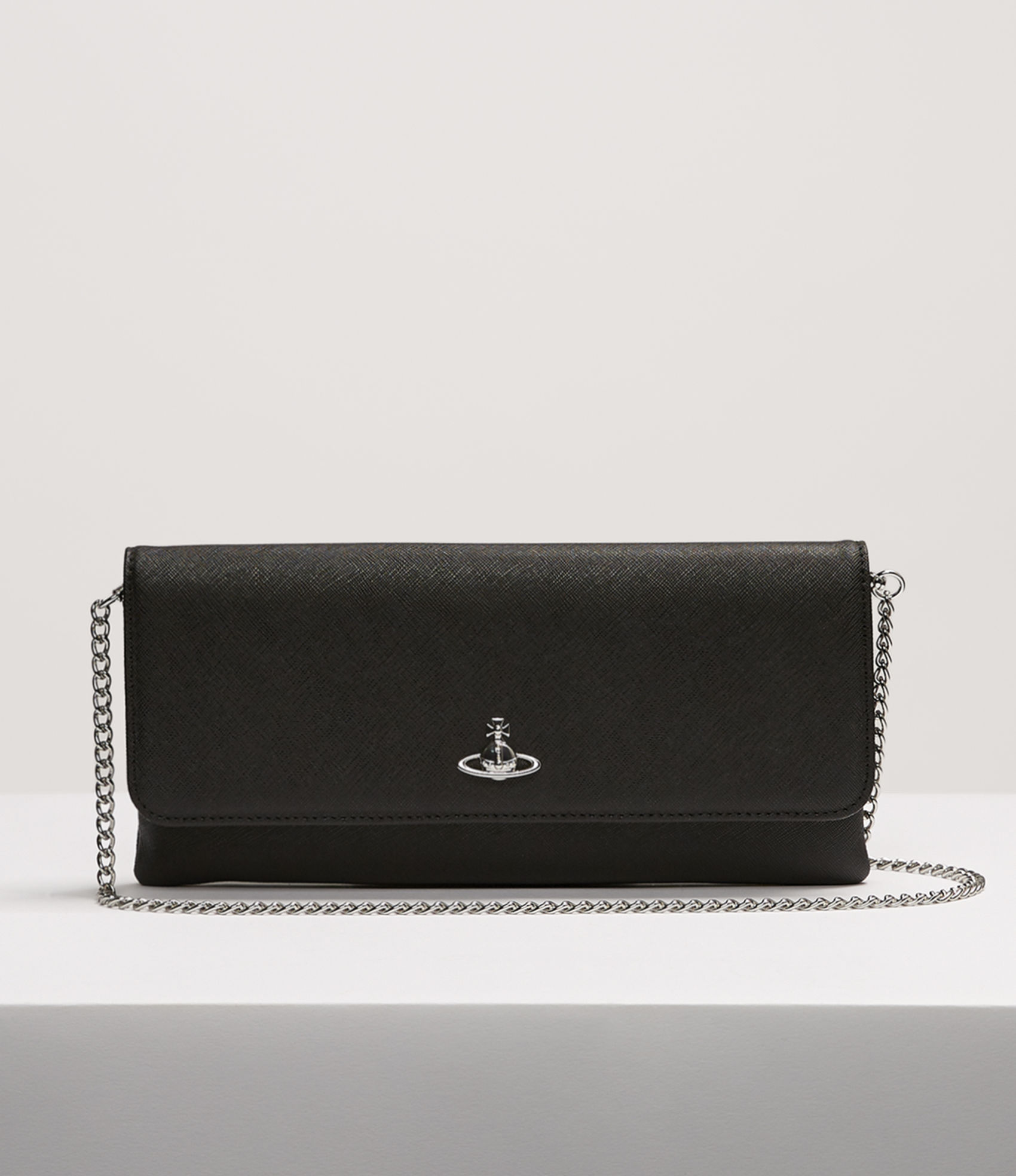 cc4a3a309a Vivienne Westwood Victoria Clutch With Flap In Black | ModeSens