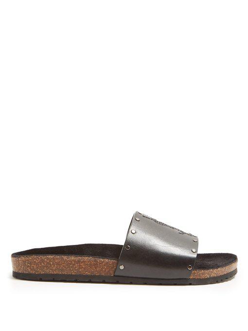 b1600526fe90 Saint Laurent Men s Jimmy 20 Ysl Slide Sandals In Black