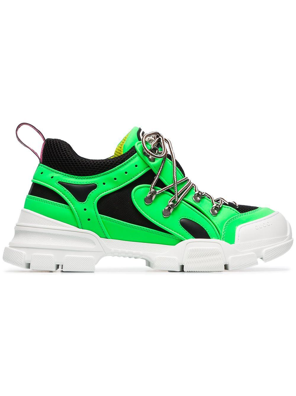 bda14b0f138 Gucci Men s Flashtrek Reflective Sneakers In Green