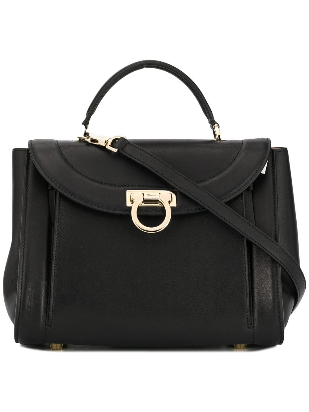 ea6f1feb353 Salvatore Ferragamo Gancini Tote Bag - Black | ModeSens
