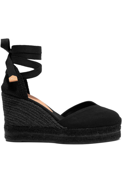 bcf5973bfd7 CastaÑEr Chiara 80 Canvas Wedge Espadrilles In Black