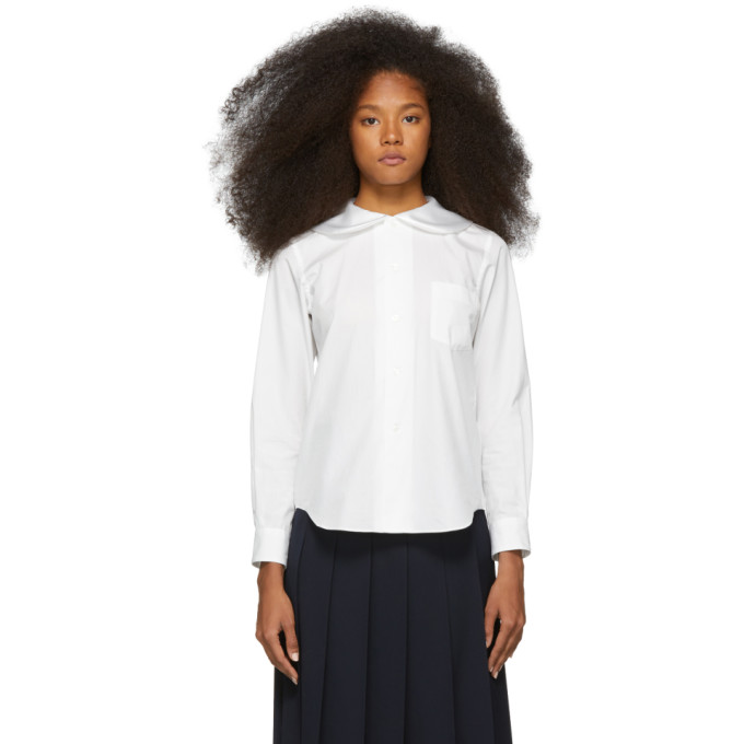 3e9ff12f Comme Des Garcons Girl White Peter Pan Collar Shirt In 1 White ...