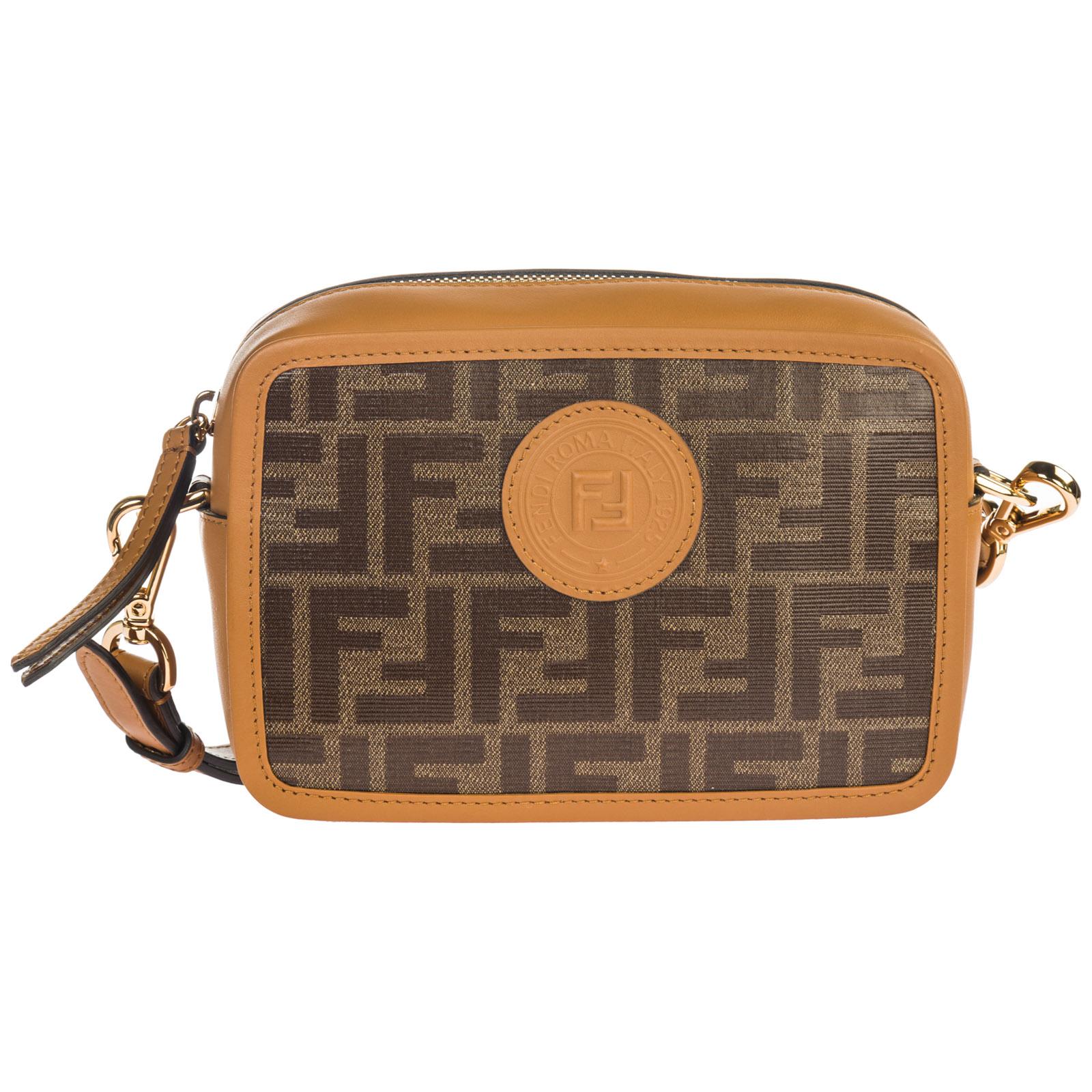 39b72f52e7c7 Fendi Women s Leather Cross-Body Messenger Shoulder Bag In Brown ...
