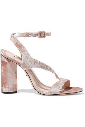 3d705d346 Schutz Woman Rutte Velvet Sandals Antique Rose