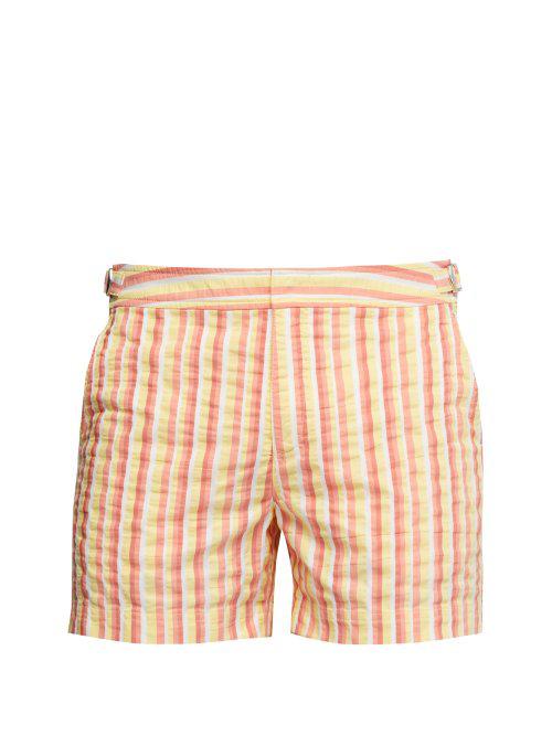 db1369d93d Orlebar Brown - Setter Stripe Swim Shorts - Mens - Orange Multi ...