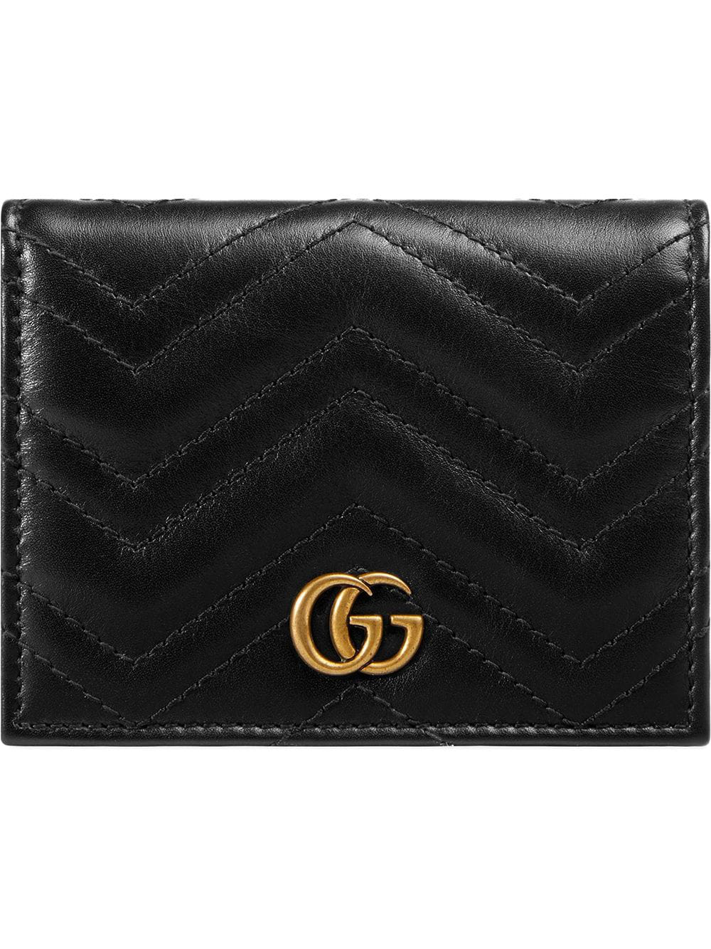 c4a26849e40e Gucci Gg Marmont Small Quilted Leather Wallet In 1000 Black | ModeSens