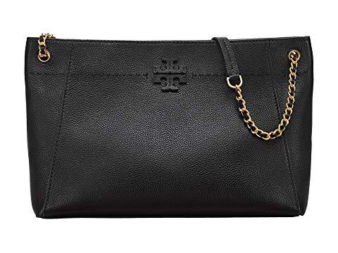602ba499b12d Tory Burch Mcgraw Slouchy Leather Shoulder Bag - Black