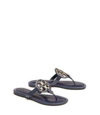 5c142565c38 Tory Burch Miller Metal-Logo Sandals