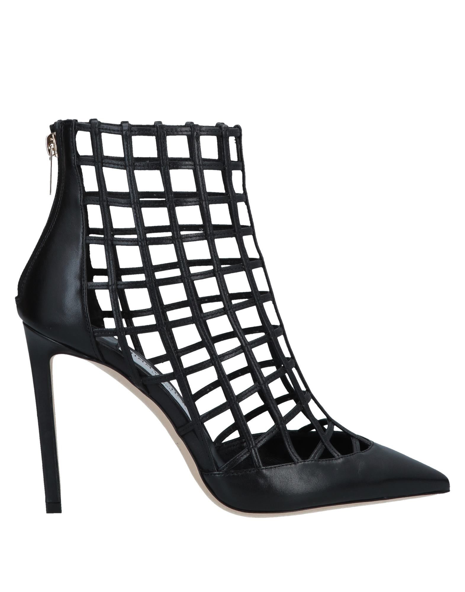 f3e57a5819a7 Jimmy Choo Women s Sheldon 100 Caged Leather High-Heel Booties In Black.  yoox.com
