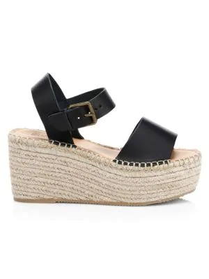 d7e0cd08abc3 Soludos Minorca Leather High Platform Espadrille Sandals In Black ...