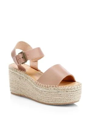 9858b4953b88 Soludos Minorca Leather High Platform Espadrille Sandals In Dove Grey