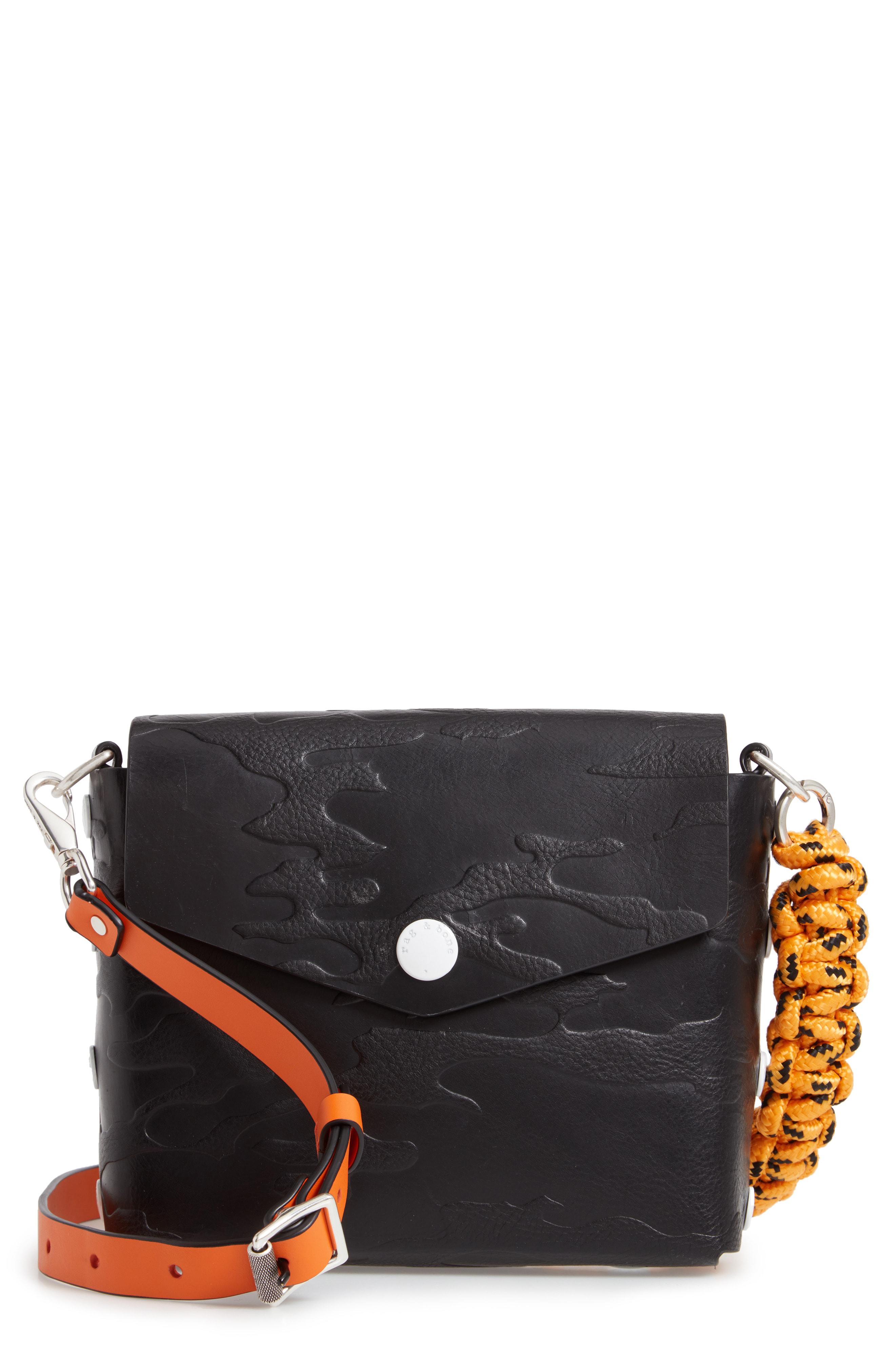 ea8d3cffd7 Rag   Bone Atlas Camo Embossed Leather Shoulder Bag - Black In Blkcamo