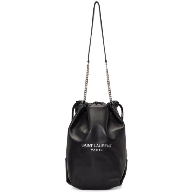 2034d02eecdd Saint Laurent Black Leather Teddy Bag In 1000 Black   ModeSens