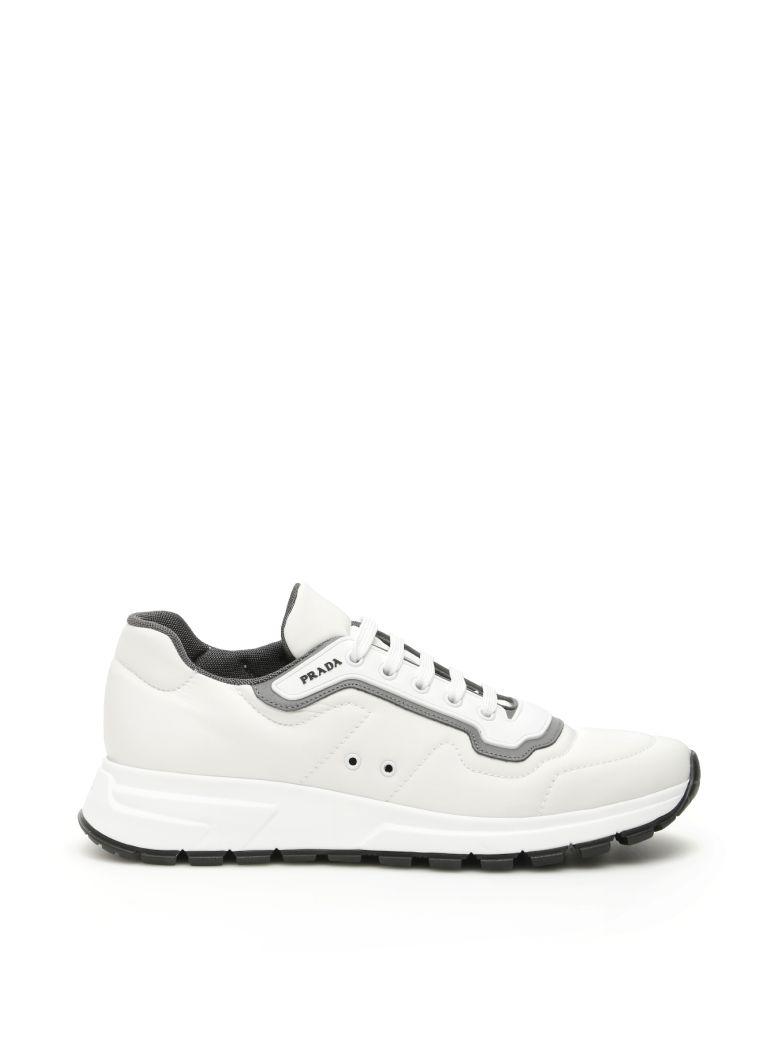 Match Race Nylon Gabardine Sneakers in White