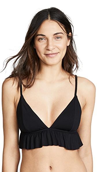 377da388152f Honeydew Intimates Ruth Modal Ruffle Bralette In Black | ModeSens