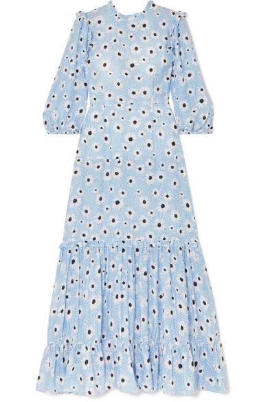 395a5c2b59b3 Rixo London Monet Ruffled Floral-Print Cotton And Silk-Blend Dress ...
