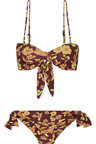 99ab9db5fa Faithfull The Brand Elsa Floral-Print Bikini In Brown   ModeSens