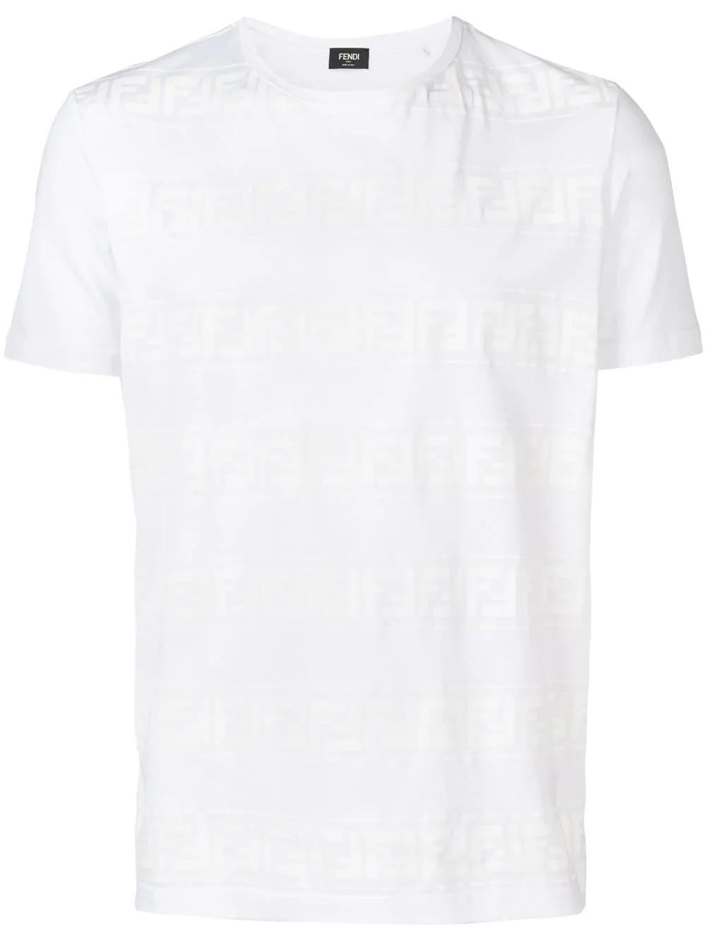 9984661b Fendi White T-Shirt With Ff Logo | ModeSens