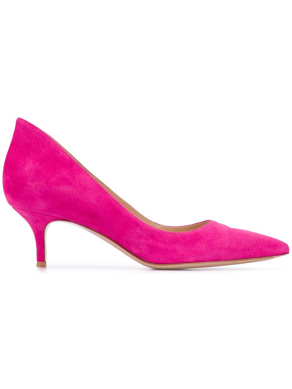 Gianvito Rossi Kitten Heel Pumps - Pink