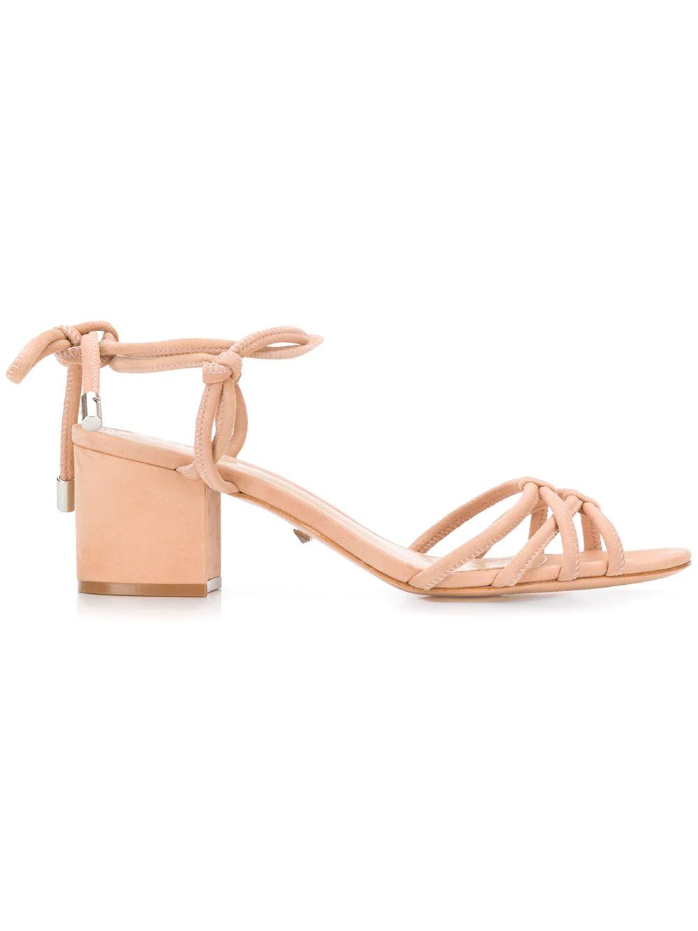 e4f9d92aad1 Schutz Lace-Up Block Heel Sandals - Neutrals
