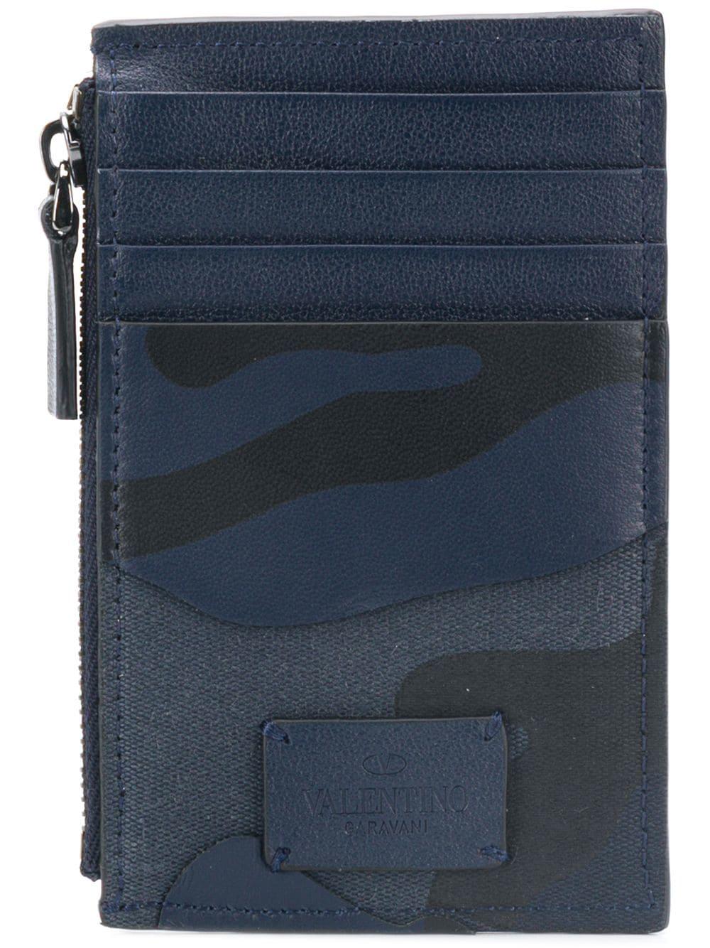 eab875f14d Valentino Garavani Camouflage Coin Purse - Blue | ModeSens