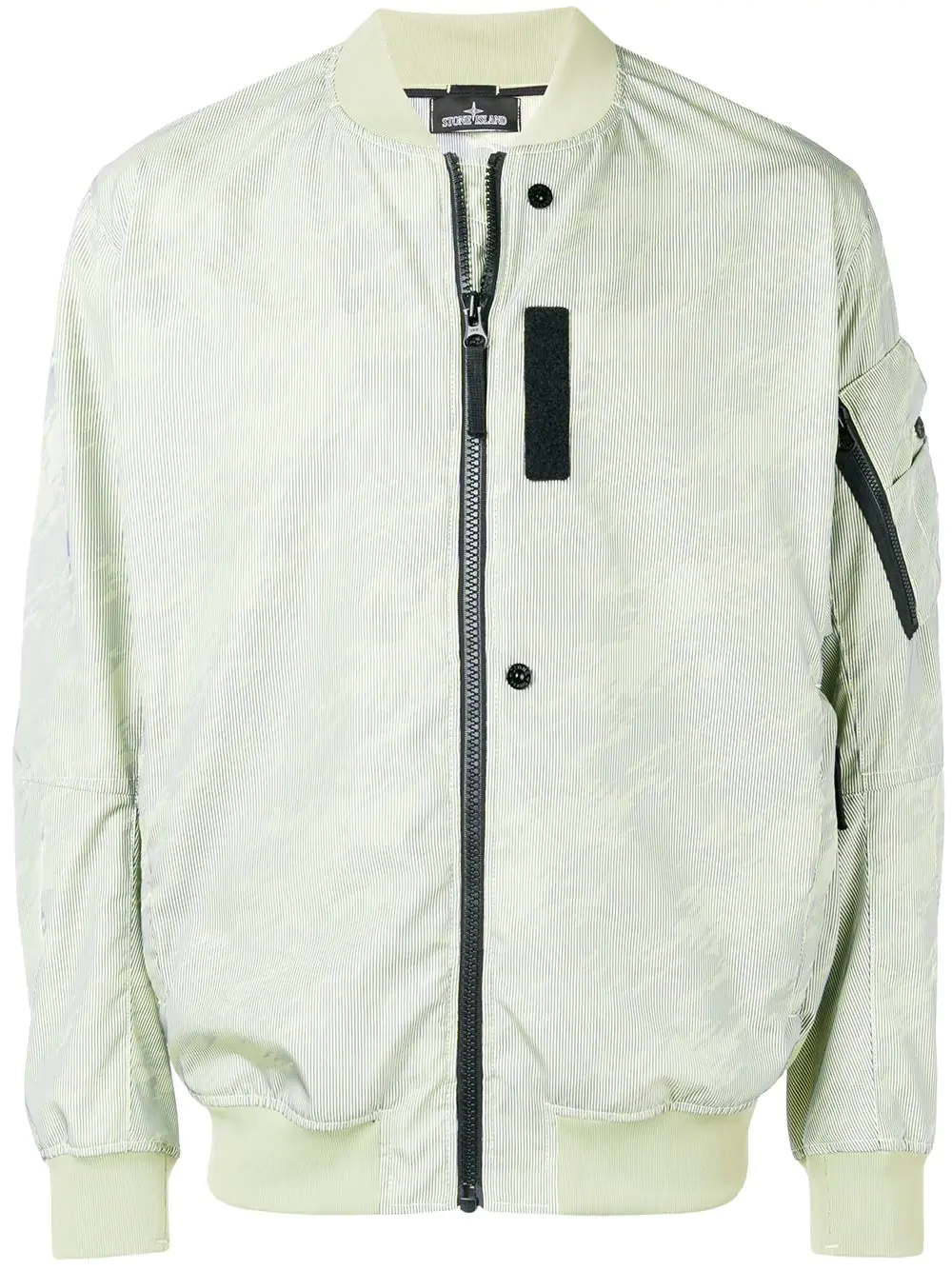 dd8291d07f9081 Stone Island Shadow Project Zipped Bomber Jacket - Green